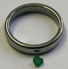 NATURAL  EMERALD GEMSTONE 3.5MM FACETED LOOSE ROUND 0.25CT GEM MINERAL EM26C