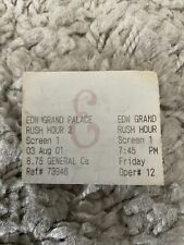 New listing Rush Hour 2 Original Movie Ticket Stub Edwards Calabasas 2001 Opening Night