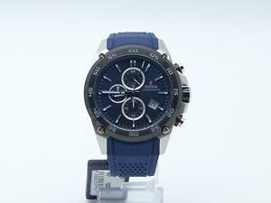 Armbanduhr Festina Unisex Uhr rund Chronograph Quarzwerk Lederarmband blau