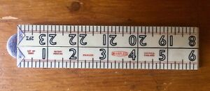 Vintage Marples 2ft Folding Ruler Yard Stick Joiners Sheffield England