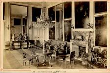 France Versailles Le Château Petit Trianon Salon De Musique Vintage Print Carte