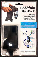 "NEW MobiFoto ""Flash Dock"" Smartphone Hotshoe Adapter to mount a phone on camera"