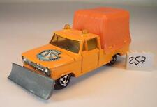 Majorette 1/80 Dodge Pickup Schneepflug orange Nr.1 #257