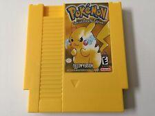 POKeMON Pikachu Yellow Version for NINTENDO NES Tested & SAVES + FREE US SHIP!