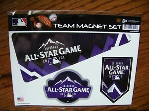 2021 AS All-Star Colorado 3 magnet set hosted by Colorado Rockies Coors Field