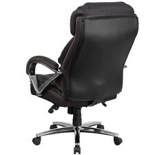 Flash Furniture Hercules Series 500 LB Capacity Big Tall Black Leather Executive
