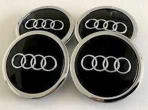 Set of 4 77mm 4L0601170 FITS Audi Alloy Wheel Center Hub Caps 2007-2015 Q7