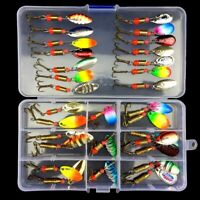 10/30 Pcs Metal Fishing Lures Spinner Spoon Baits Hooks Fishing Tackle Saltwater