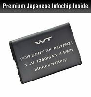 WT-NPBG1 WT Battery for Sony Sony NP-BG1,BC-CSG,NP-FG1 and Cyber-shot DSC-H3,