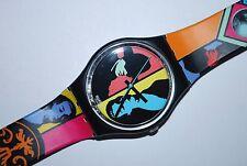 1988 Vintage Swatch Watch GB-122 COLORED LOVE Ladies Gents Swiss Quartz Plastic