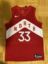 Toronto Raptors Marc Gasol Swingman NBA Nike City Jersey M 48 - NEW