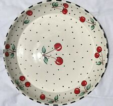 Mary Engelbreit Gaetano Pottery Large 15� Cherry Serving Bowl Platter Exc Cond