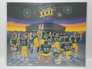 1996 Green Bay Packers Super Bowl XXXI Orlando Boys Players Inc Poster