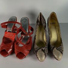 Job-lot Bundle 2X Faith Snakeskin Print & South Heeled Women's Shoes Size UK 6
