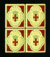 Italy Stamps Rocca Revenue Rare Block of 4