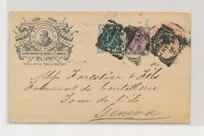 LM73951 Great Britain 1901 to Switzerland cover with nice cancels used