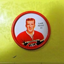 """CLAUDE PROVOST  1962-63  """" SHIRRIFF HOCKEY COIN """"  #35   Montreal Canadiens"""
