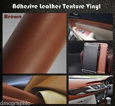 100x152cm Adesivo Texture in pelle Marrone Mobili Auto Adesivo Vinile Wrap Film