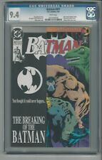 Batman #497 CGC 9.4 NM Dark Knight Rises Bane Breaks Batman's Back DC 7/93