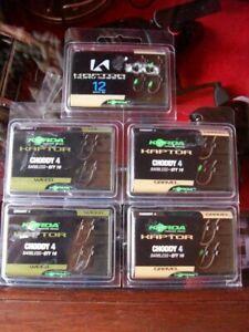 5 x Korda Kaptor Choddy & Kurv Shank Carp Fishing Hooks