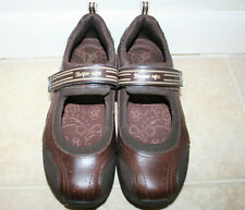 Skechers Shape-Ups Hydrate Brown Mary Jane Walking Shoes Womens 7 M EUC Toning