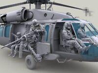 1/35 Resin Figure Model Kit US ARMY (NO aircraft No Gun) Garage Unpainted
