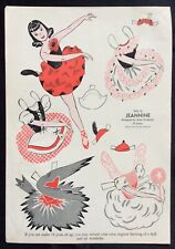 1950, Jeannine Mag. Paper Dolls, Wee Wisdom Mag., Dorothy Wagstaff Artist