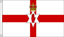 More details for huge 8ft x 5ft red hand of ulster flag massive giant northern ireland irish flag