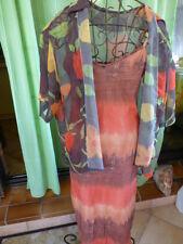 lot=2piéces =robe bretelle (femme menue )+surchemise voile