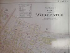 WORCESTER MASSACHUSETTS ANTIQUE MAP RAILROAD ARMORY NR