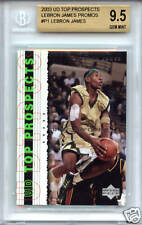 LeBRON JAMES Cavaliers 2003 Upper Deck rare Promo1 rookie BGS 9.5 GEM MINT