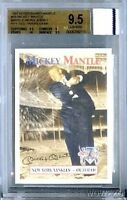 1997 Scoreboard #58 Mickey Mantle YANKEES WORN JERSEY BGS 9.5 GEM MINT