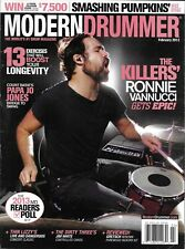 Modern Drummer magazine The Killers Ronnie Vannucci Papa Jo Jones Mike Byrne