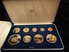 1980 Malaysia Proof Set 9 Coin Set Original Box and COA