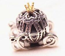 AUTHENTIC PANDORA CHARM BEAD 14K GOLD DISNEY CINDERELLA'S PUMPKIN #791573CZ