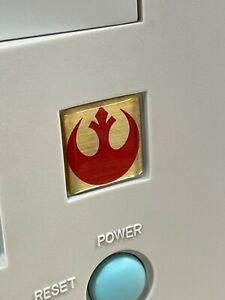 Custom Star Wars 1x1 DOMED Computer Case Badge Sticker Retro Imperial Cog Rebel