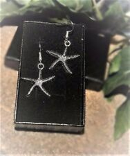 Handmade Starfish Silver Plate Earrings (Pair) Gift Boxed