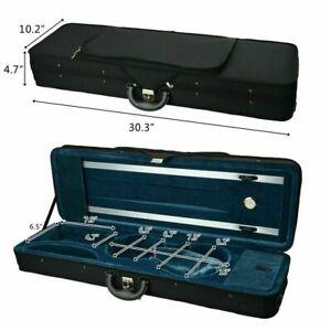 Fashion 4/4 Full Size Square Shape Violin Carry Box Hard Case with Cushioning