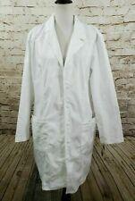 "Cherokee Lab Coat White Women Xl 2319 Nwt 36"""