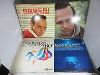 Lot of 4 Roger Williams Vinyl LP Records See description. VG+/NM  cover VG+/NM