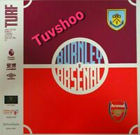 Burnley v Arsenal Matchday Programme 2/2/2020  FREE DELIVERY WITHIN U.K.!!!