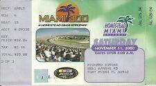 NASCAR 2000 Miami 300 Homestead Ticket Stub - Jeff Gordon Win