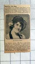 1915 Miss Blanche Tomlin Has A Super Revue Voice