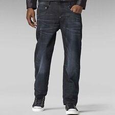 """G-Star da Uomo Nuovo Radar low Loose jeans 28"""" x 32"""" NUOVO con etichetta BLK Hydrite Denim med aged"""