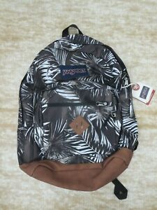 JanSport City View Backpack Tonal Palms Brown with 15 inch Laptop Sleeve