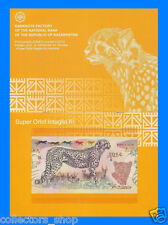 KAZAKHSTAN: RARE SET 3 TEST notes POLYMER  ASTANA 2014 FOLDER UNC ANIMALS