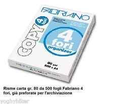 CF. 5 RISME A4 21X29,7 DA 500 FG. GR.80 CARTA FABRIANO COPY 4 FORI
