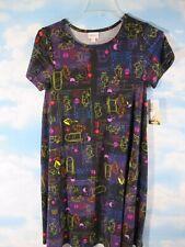 LuLaRoe Disney SMALL Carly Dress Winnie The Pooh BLACK Honeypot NEW WITH TAG A17