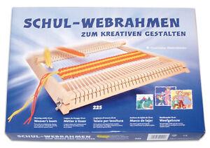 Schul -  Webrahmen 25cm, mit 2 Schiffchen und Kamm, NEU  # 1362.1256