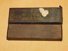 VINTAGE BLADE SHARPENER NORTON COMPANY CORUNDUM PIKE INDIA OILSTONES in BOX